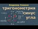 тригонометрия СИНУС УГЛА ЭТО sin