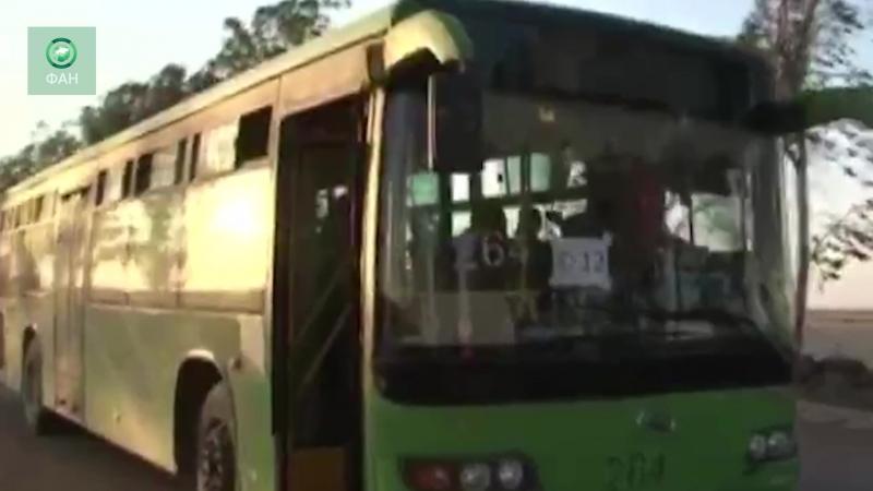 Сирия ФАН публикует видео вывоза боевиков с севера провинции Даръа