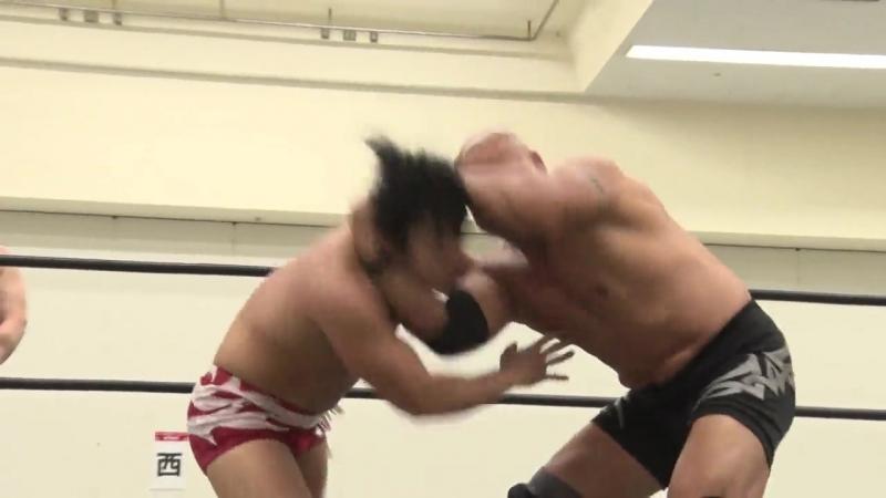Antonio Honda, Nobuhiro Shimatani vs. Toru Owashi, Yuto Aijima (DDT - Road to Ryogoku 2018 ~ Dramatic Dream Tonkotsu)