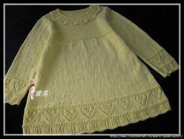 Платье для девочки (3 фото) - картинка