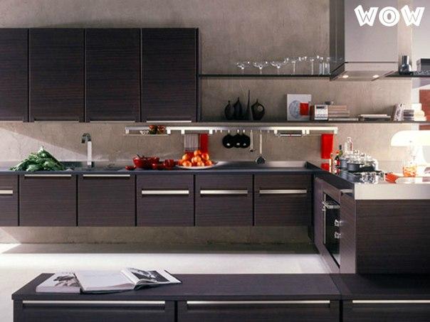 Деревянная кухня минимализм, модерн