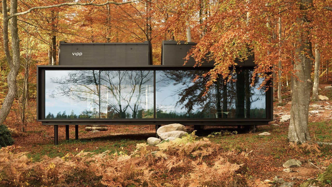 """y IYlrb50hc - Vipp prefabricated cabins designed as """"battery-charging stations for humans"""""""