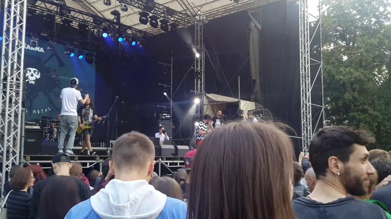 Karna Карна Полтергейст Atlas Weekend Live fan video East stage Kyiv 3 07 2018
