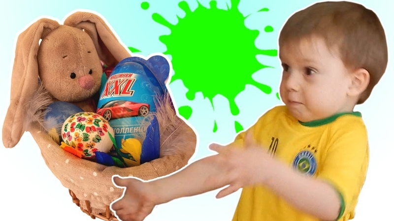 Easter Eggs Hunt| Dyeing Easter eggs and learning colors with Petya| Open toy Easter bunny surprise