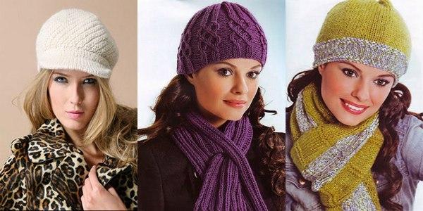 вязанные шапки и шарфы модели 2011 года