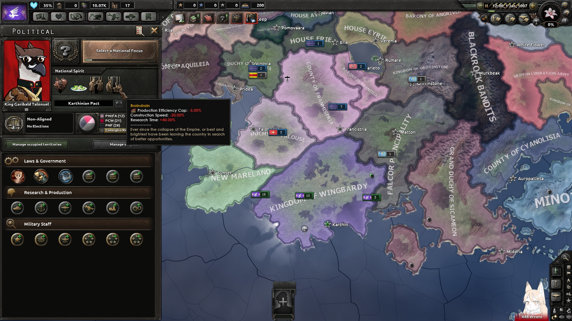 Equestria At War Dev Diary I: The New Continent : hoi4