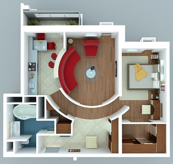 1 Bedroom Flat Interior Design Cool Квартирка Ты  Home Ideas  Pinterest  Bedroom Apartment Design Decoration