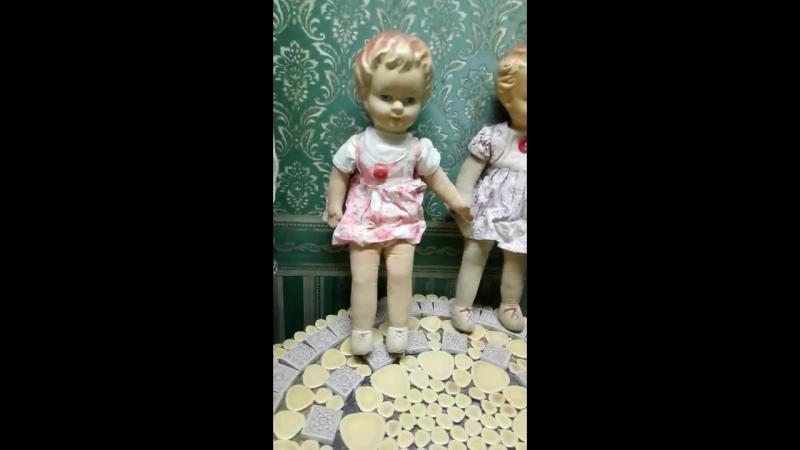 Кукла СССР,1930-40год Фронтовые,блокадные игрушки.mp4