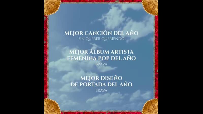 Nominaciones de BRAVA en @premiosgardel Atentos porque en canción del año eligen USTEDES ! Felicitaciones a TODOS los