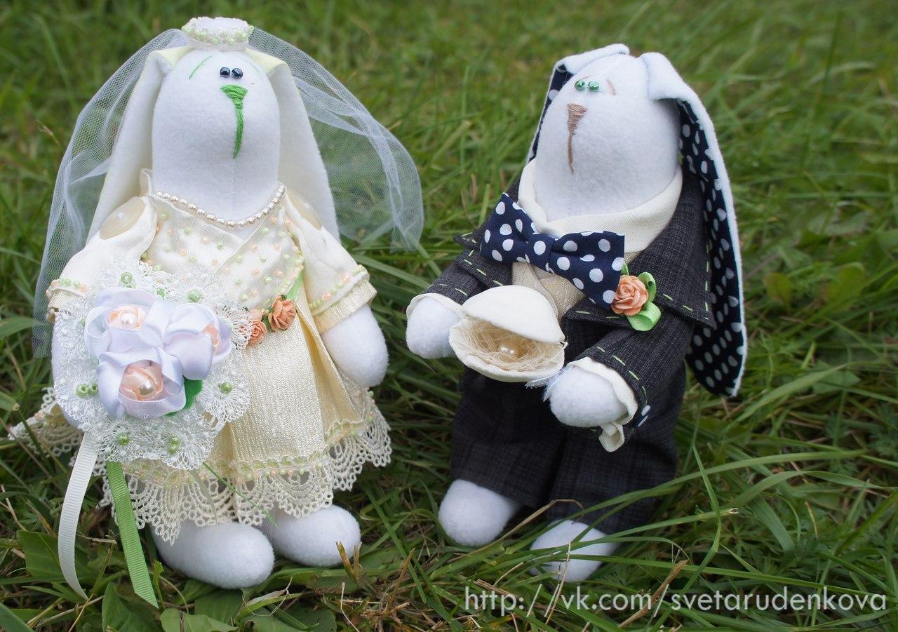 заяц-тильда свадебный