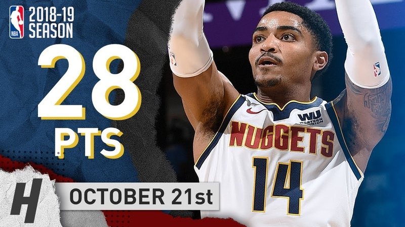 Gary Harris Full Highlights Nuggets vs Warriors 2018.10.21 - 28 Points!