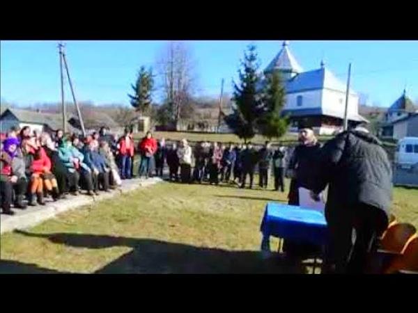 Незаконні Збори громади в Кальнівцях щодо переходу церкви до ПЦУ