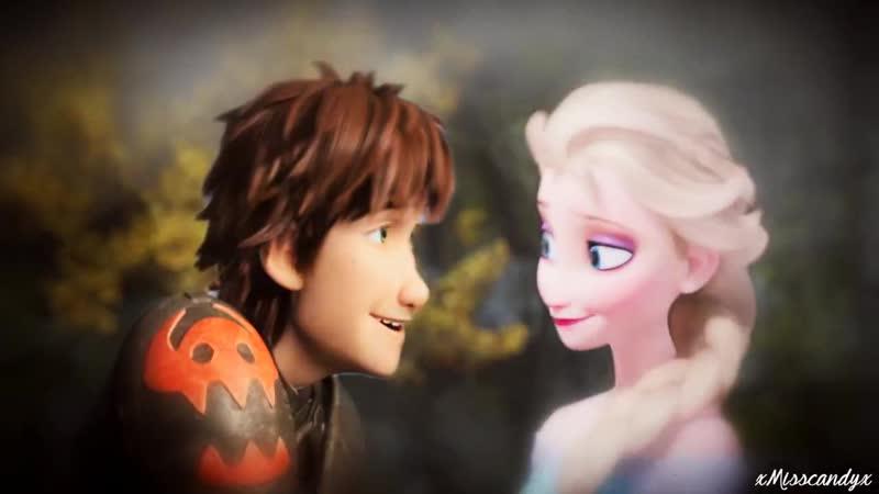 Non-Disney {Hiccup/Elsa | Stitches}