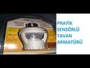 Pratik sensorlu tavan armaturu tanıtım videosu