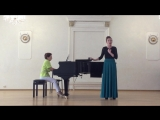 Экзамен по вокалу 1 курс Юлия Шебалина. Романс