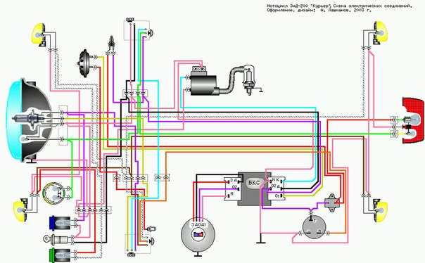 схема электропроводки минск 12 вольт
