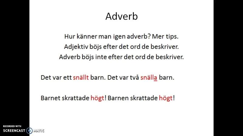 EvasSfi Adverb eller Adjektiv
