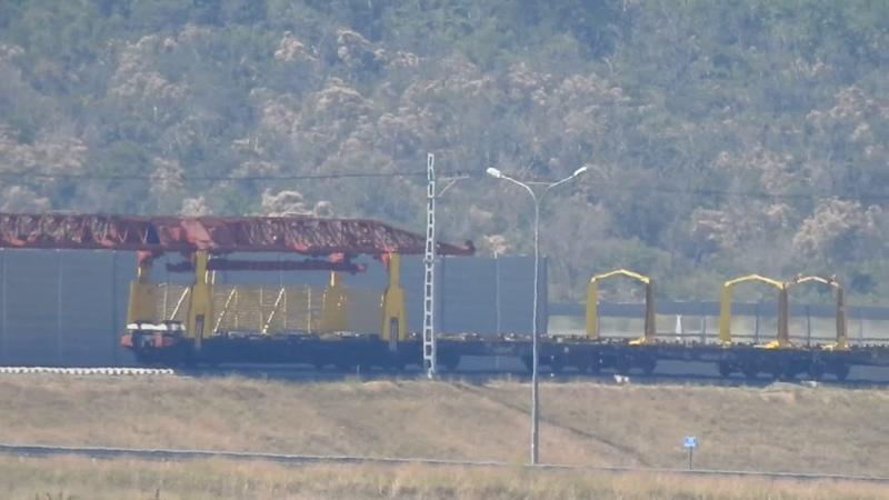 Керчь ж д подходы Путеукладчики Цементная ст Южная Мост