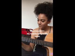 Instagram Алис Шеннон I Игра на гитаре #1