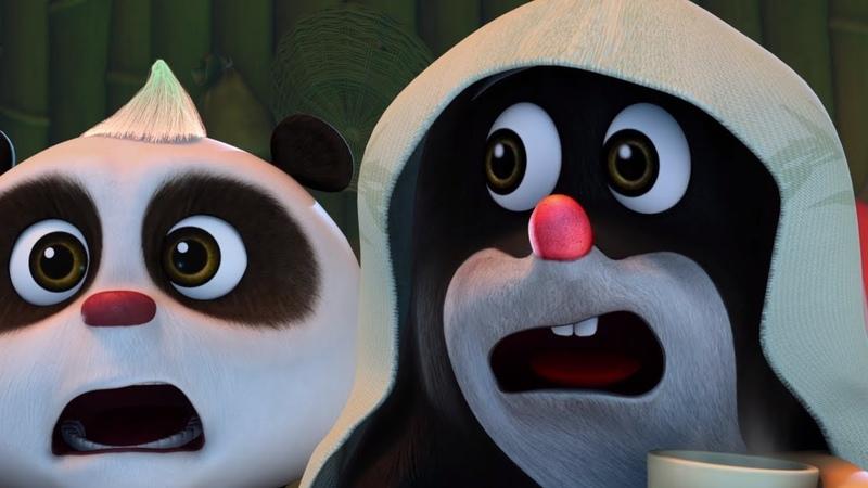 Мультики для детей Кротик и Панда Дождливый день Непрошеные гости Новые мультфильмы 2017