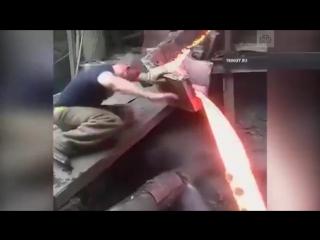 Суровый челябинский сталевар