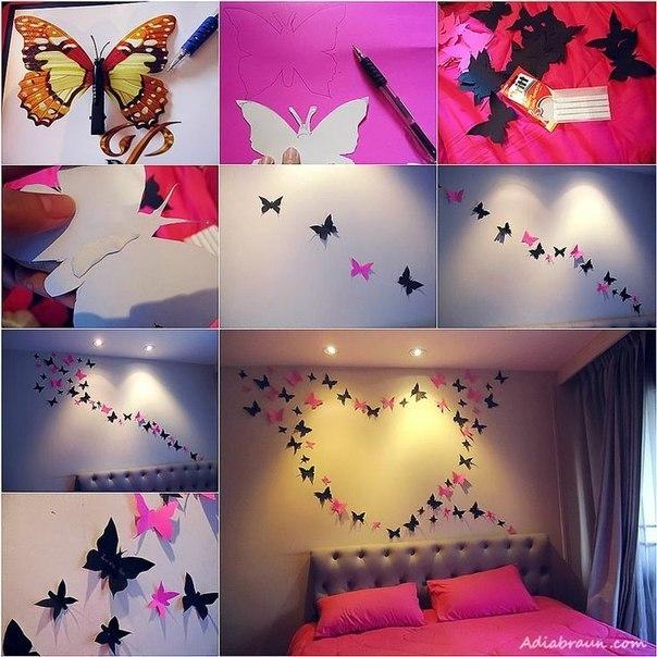 Декор бабочками (1 фото) - картинка
