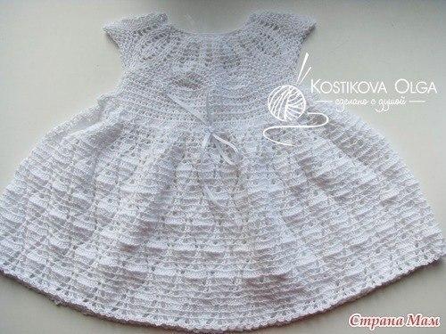 Платье для девочки вязаное крючком.схема… (5 фото) - картинка
