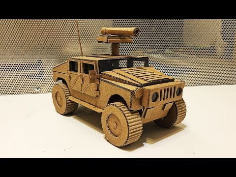 How to make Hummer H1 from Cardboard \HMMWV \Humvee\Amazing Toy DIY