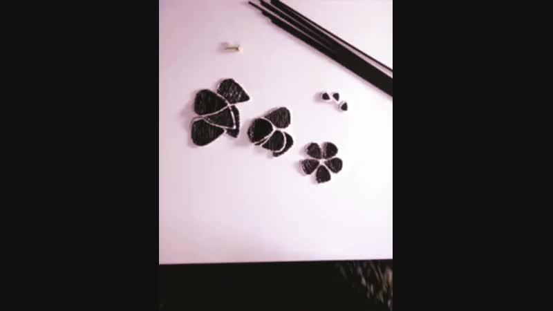 создание 3d ручкой панно с цветами