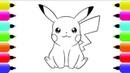 Pikachu Paintbox - Pikachu Coloring Pages | Cartoon Episodes 1 Pikachu