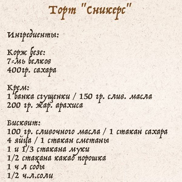 самые популярные торты рецепты с фото