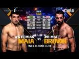 Fight Night Santiago Free Fight  Demian Maia vs Matt Brown