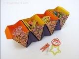 Коробка-аккордион из бумаги по схеме Ayako Kawate