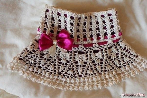 Вязаная юбочка для девочки, схема (4 фото) - картинка