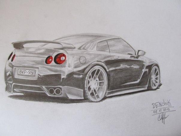 Машины нарисованные карандашом vk