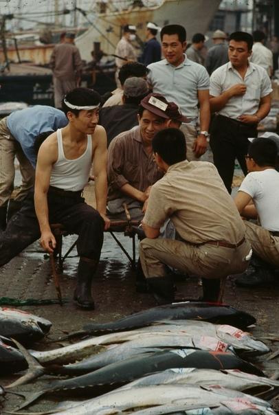 Серия фотографий с рыбаками из Токио, 1964 год. Фотограф: Brian Brae