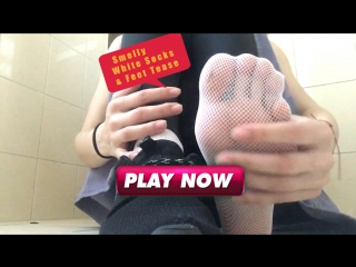 Eva malina smelly white socks & feet tease