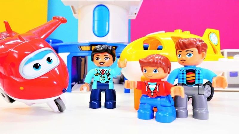 Çocuk oyunları. Harika kanatlar Türkçe izle. Lego oyuncakları - havalimanı yapıyoruz!