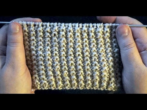 Вязание простой рельефной резинки
