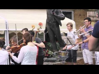 "����� ������� ""���� ������� � ���������"" 13.06.14/anthem of the European Union in Lviv"