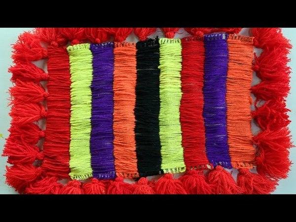 WOW! Amazing Doormats | How To Make Doormats Using Woolen jute rugs - DIY doormats making idea » Freewka.com - Смотреть онлайн в хорощем качестве
