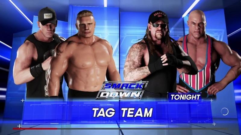 WWE 2K18 Brock Lesnar '04,Heel John Cena VS Undertaker '00,Kurt Angle Elimination Tag Match