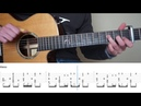 Sia ZAYN Dusk Till Dawn Fingerstyle Guitar Tutorial lesson With Tabs