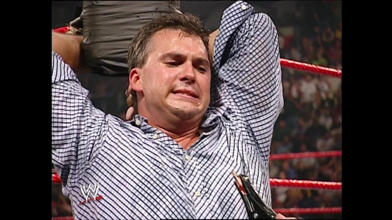 Raw 09 01 2003 - Kane electrocuted Shane McMahon's testicles