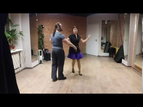 Латиноамериканский танец Касино по методу квадрата Рутины 1,2 и 3