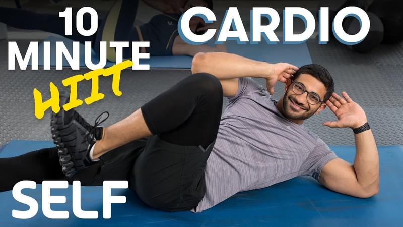 SELF 10 Minute Tabata Full Body Cardio HIIT Workout Табата на 10 минут без инвентаря с разминкой и заминкой