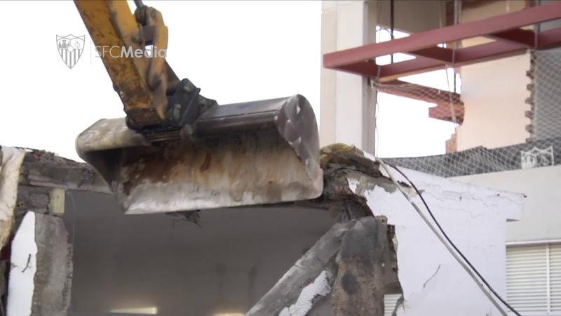 Arranca la demolición de parte de los vestuarios de la Ciudad Deportiva