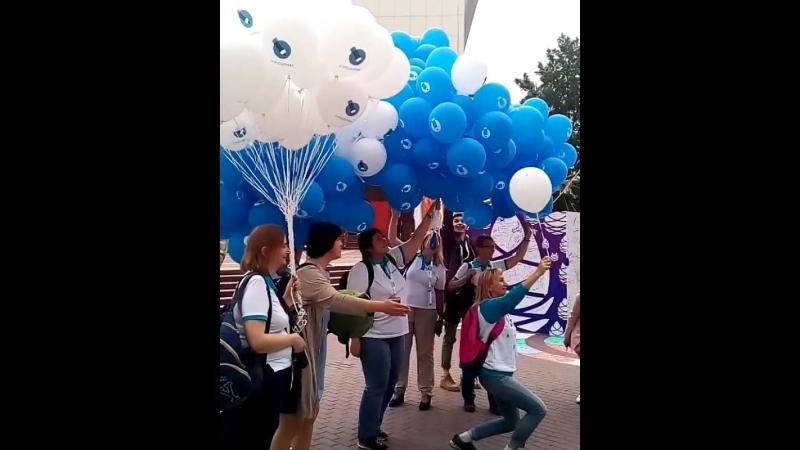 Нефорум Блогеров Тюмень. ЖЖ-запуск шариков в небо в центре Тюмени. Воронцов Дмитрий