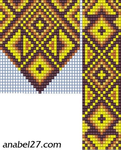 Схема бисероплетения герданы