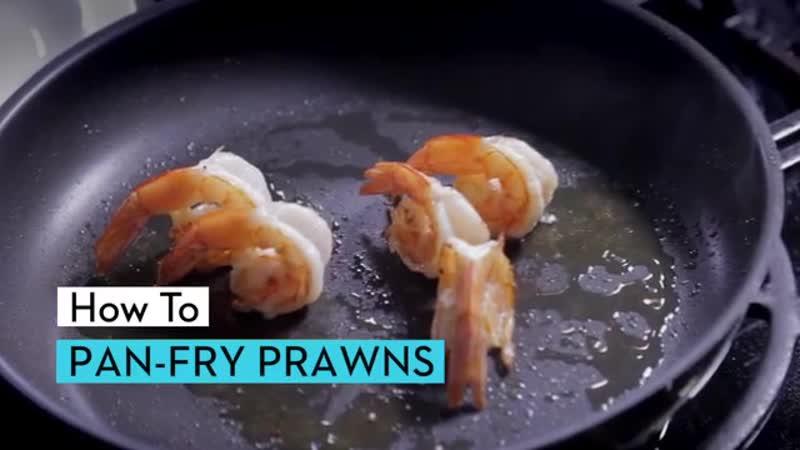 How to pan fry prawns.mp4